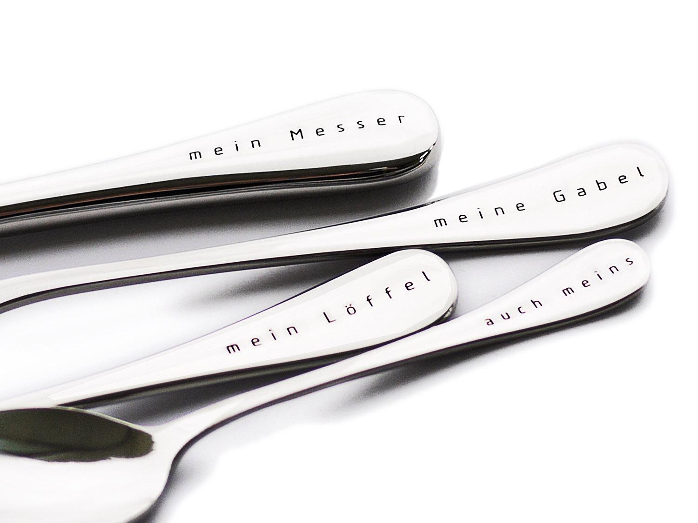 Besteckset mit Gravur - Mein Messer - personalisierte online Geschenke, Detail