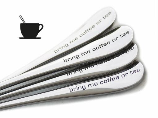 CAN bring me coffe or tea - Kaffelöffel mit Gravur - Detail