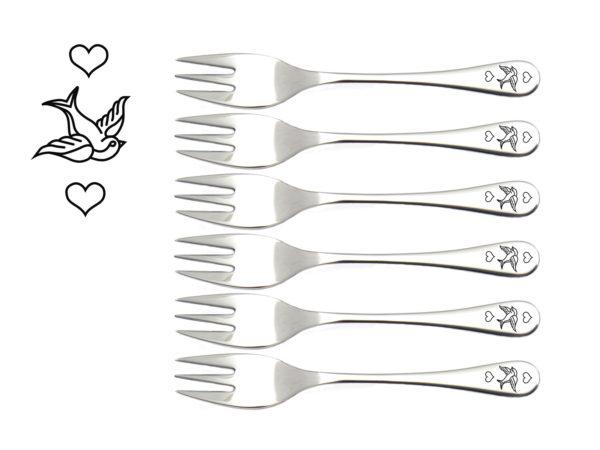 Kuchengabeln - Schwalbe, schöne Valentinstag Geschenke