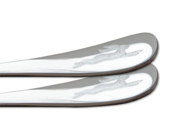 Eierlöffel mit Gravur Hase - originelle Ostergeschenke, Detail