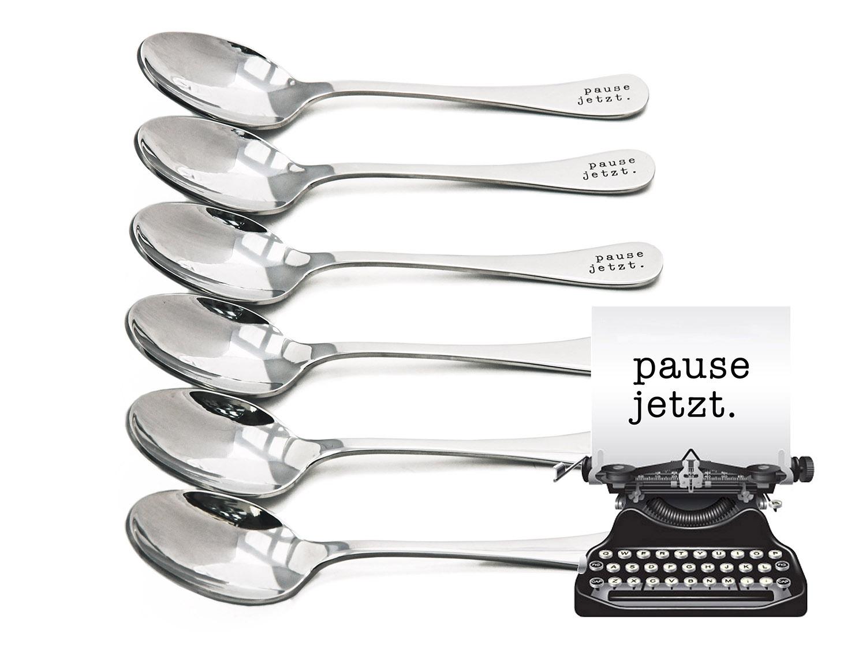 Kaffeelöffel - pause jetzt - originelle Geschenke - Totale