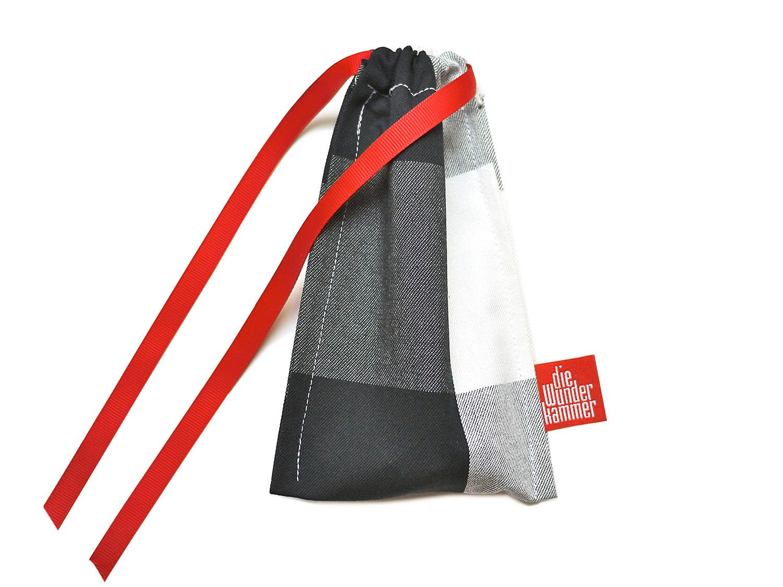 Geschenkverpackung Besteckbeutel klein schwarz weiss