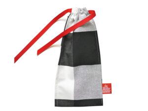 Geschenkverpackung Besteckbeutel groß, schwarz weiss