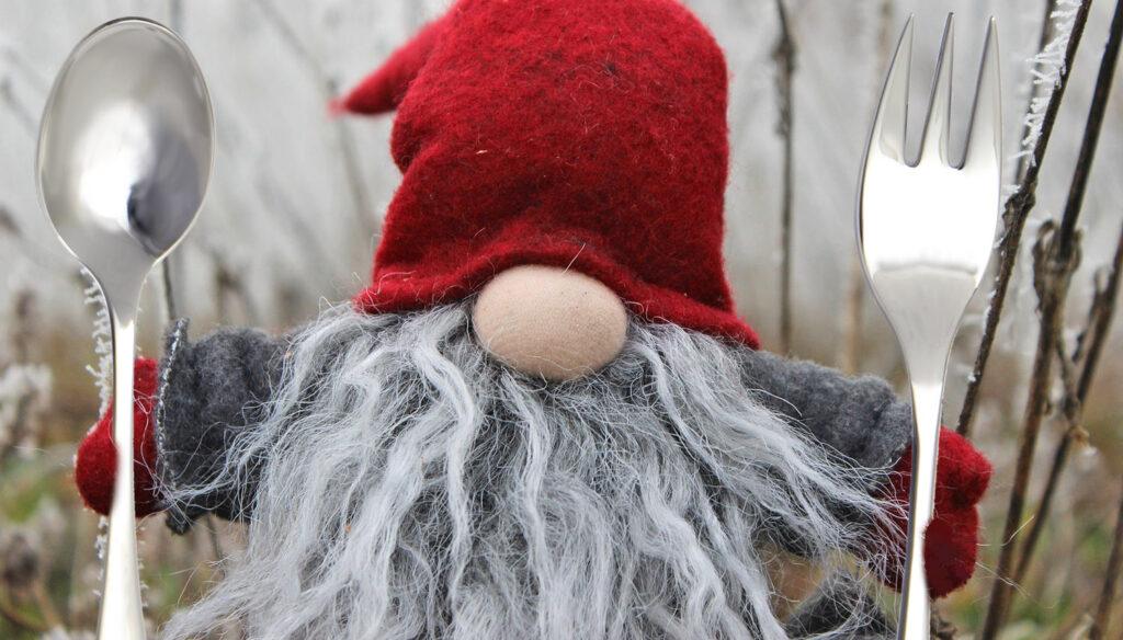 Originelle Wichtelgeschenke und Nikolausgeschenke online - Wichtel mit Besteck