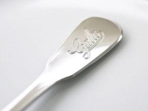 Merchandising Artikel Besteck mit Logo Gala, Detail life
