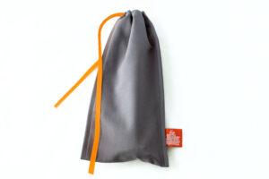 Geschenkverpackung Besteckbeutel grau, groß