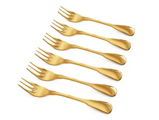 SPATEN KUCHENGABELN vergoldet, 6 Stück - Besteck für besondere Anlässe