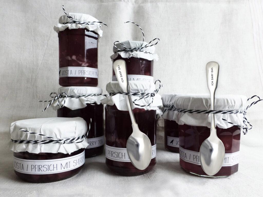 Geschenke aus der Küche - Marmeladengläser mit ICH DARF DAS Kaffeelöffel