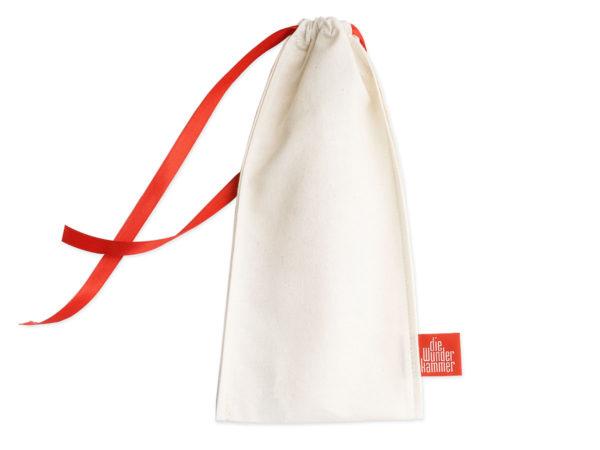 Geschenkverpackung Besteckbeutel bomull (cream), groß