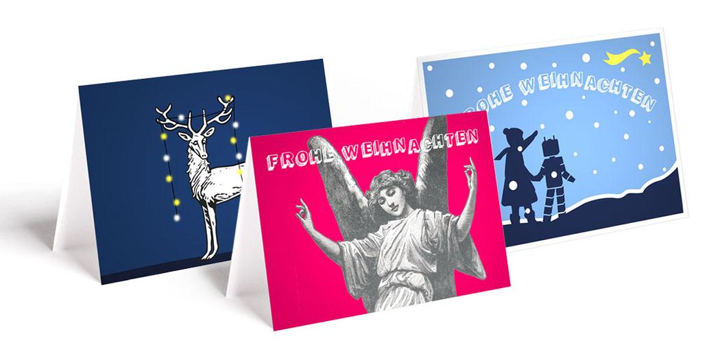 Weihnachtsgeschenke - schöne Weihnachtskarten - Banner mit 3 Motiven